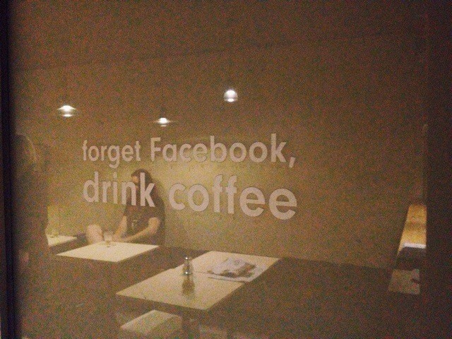 Forget Facebook, Drink Coffee.