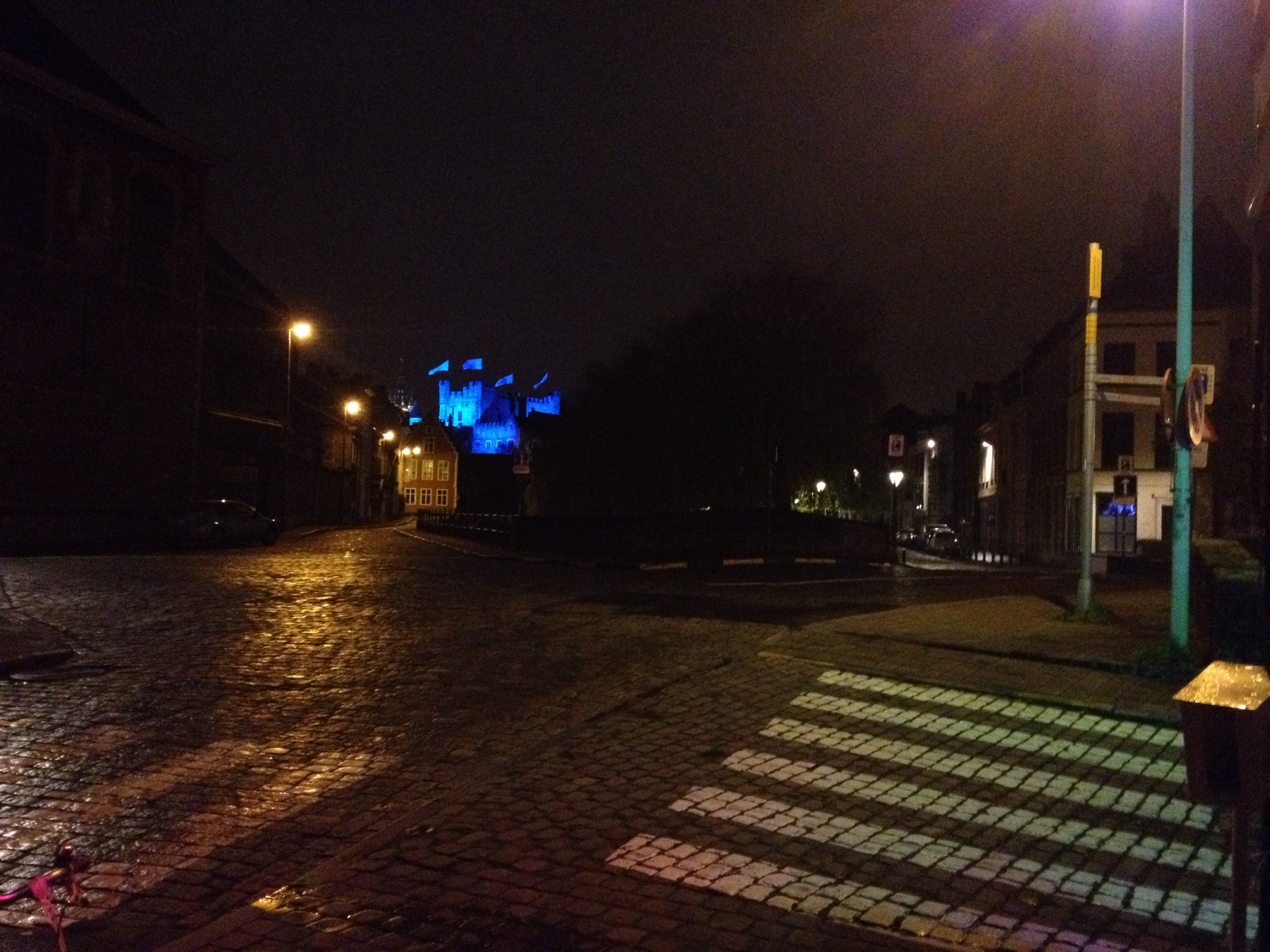 The Castle is Feeling Blue Tonight